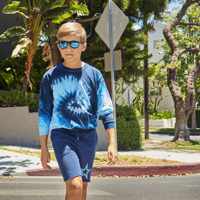 Long sleeve T-shirt, Blue Tie-Dye