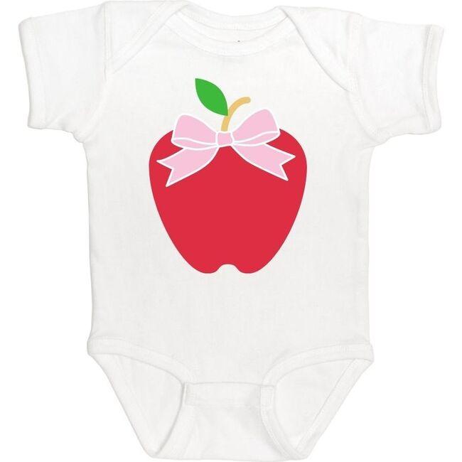 Apple S/S Bodysuit, White