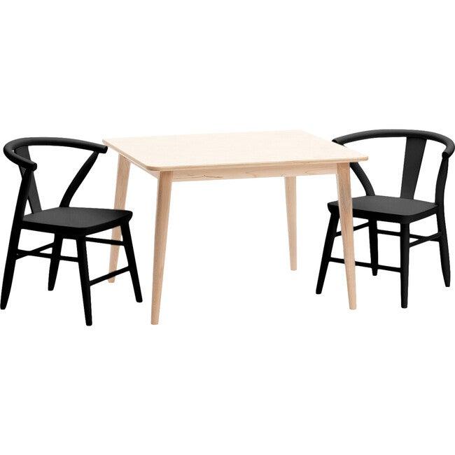 Crescent Chairs Pair, Black