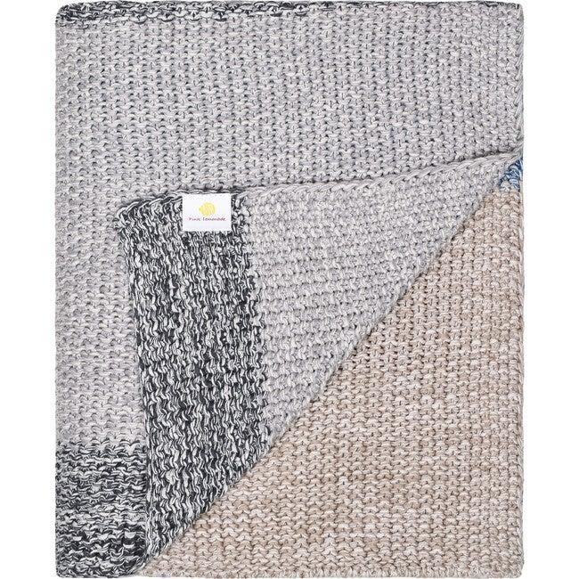 Vena Throw Blanket, Pink/Grey
