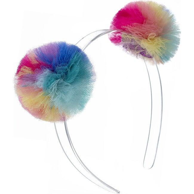 Double Pompom Headband, Vibrant Colors