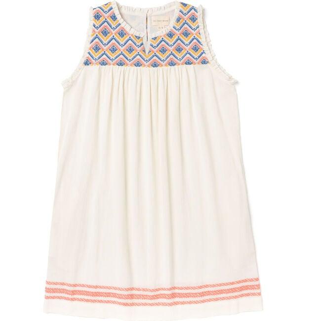 Women's Sullivans Dress, Saffron/Blue/Coral