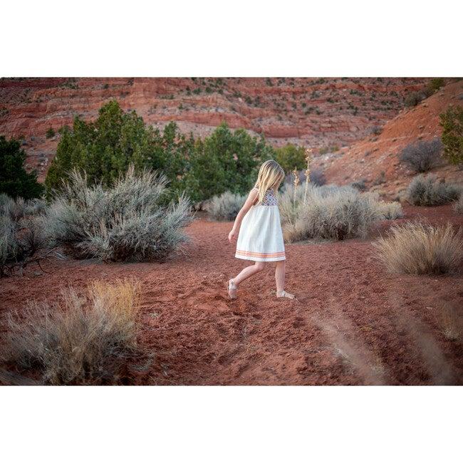 Sullivans Dress Girls, Saffron/Blue/Coral