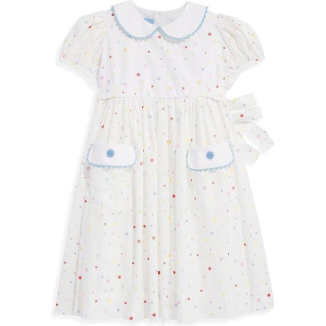 Printed Peter Pan Sundress with Pockets, Confetti Dot - Dresses - 1