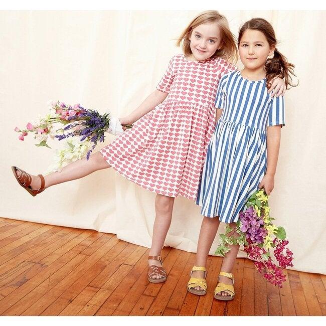 Organic Steph Dress, Rose Hearts