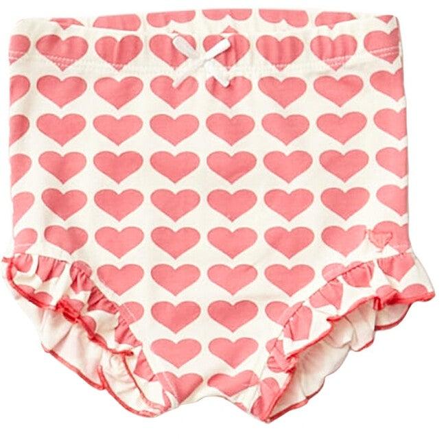 Organic Diaper Cover, Rapture Rose Hearts