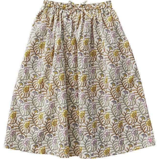 Loretta Skirt, Antique White Vine Floral