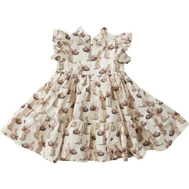 Jennifer Dress, Antique White Rabbits