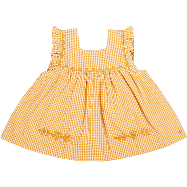 Marabelle Top, Yolk Yellow Mini Gingham
