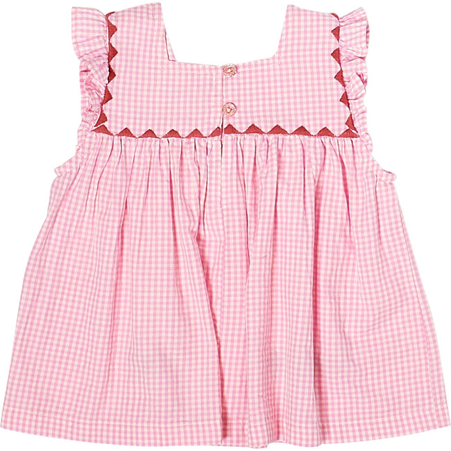 Marabelle Top, Cyclamen Pink Mini Gingham