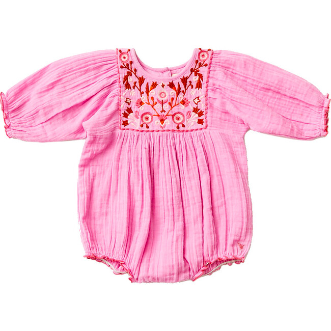 Arianna Bubble, Pink Multi Embroidery