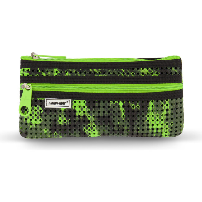 Flat Pencil Pouch, Olive Camo