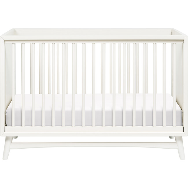 Peggy 3-in-1 Convertible Crib with Toddler Bed Conversion Kit, Warm White