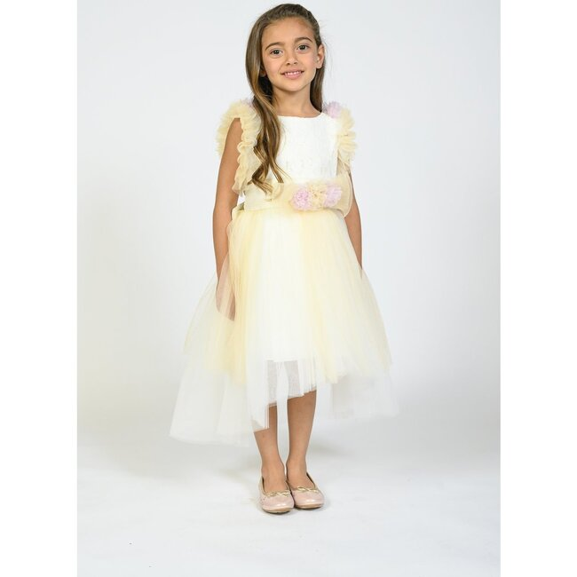 Lorain Dress, White