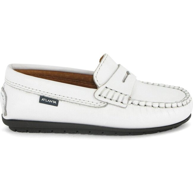 Penny Moccasins in Smooth Leather, White - Loafers - 1