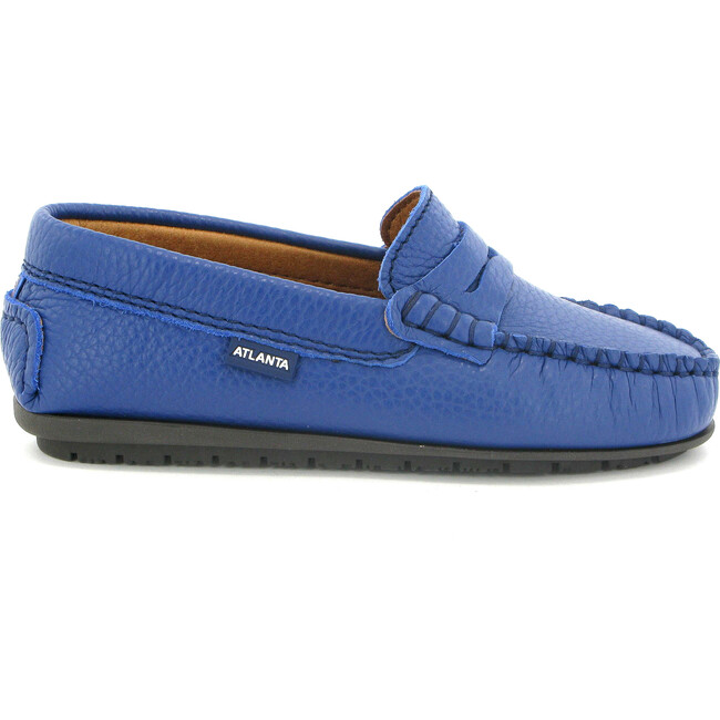 Penny Moccasins in Grainy Leather, Submarine