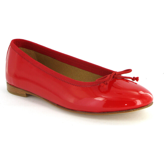 Patent Leather Ballerina, Red