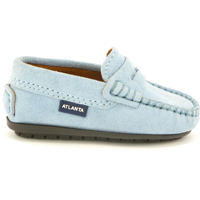 Toddler Penny Moccasins in Suede, Sky Blue