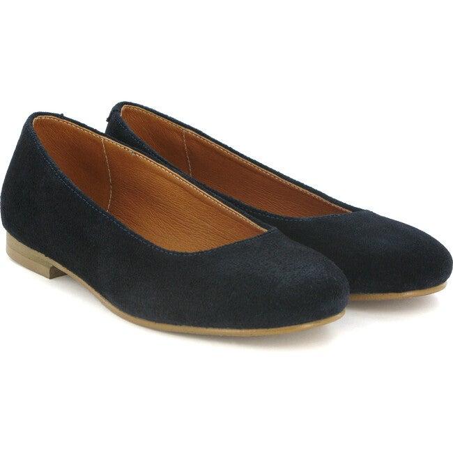 Suede Ballerinas, Blue