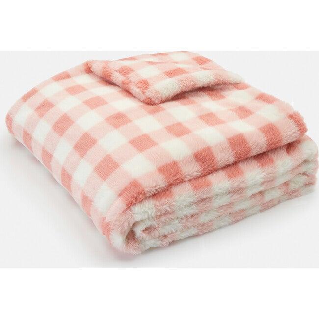 Raven Blanket, Pink Gingham