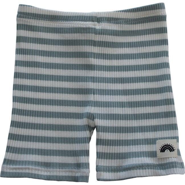 Cycle Short, Mint Stripes
