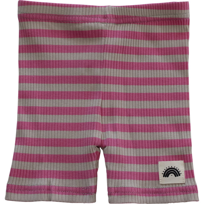 Cycle Short, Pink Stripes