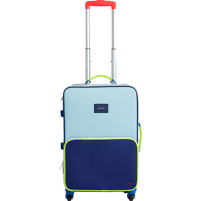 Logan Suitcase, Navy and Neon