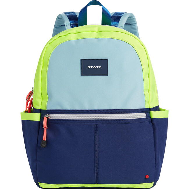 Kane Kids Backpack, Navy and Neon
