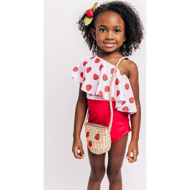Kids Strawberry Bag, Natural