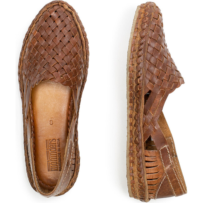 Woven Shoe, Oiled Leather