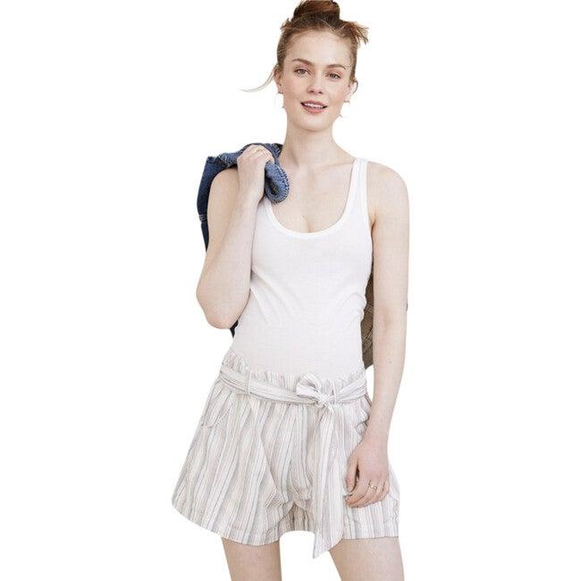 The Women's Damia Short, Ivory Stripe