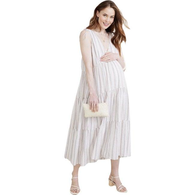The Women's Erika Dress, Ivory Stripe