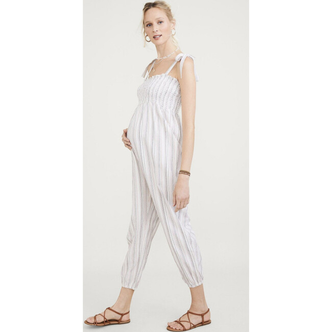 The Women's Jojo Jumpsuit, Ivory Stripe