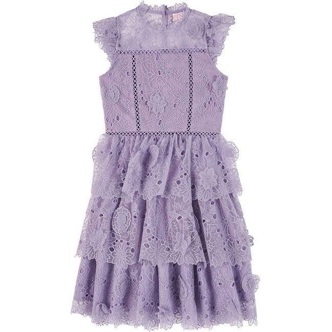 Clover Lace Dress, Lavender