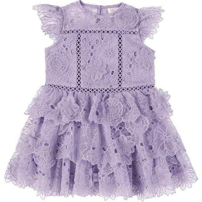 Baby Clover Lace Dress, Lavender