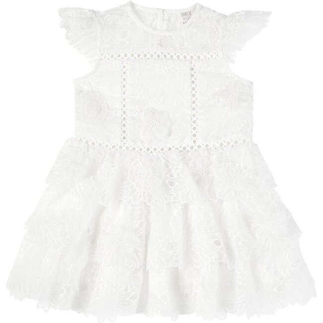 Baby Clover Lace Dress, Ivory