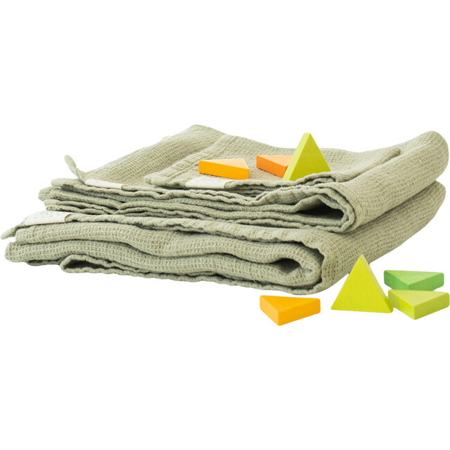 Linen Hooded Towel, Sage