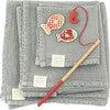 4-Piece Waffle Linen Towel Set, Light Grey - Towels - 1 - thumbnail