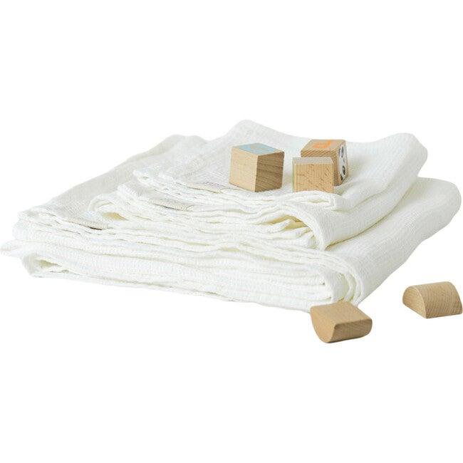 Linen Hooded Towel, White