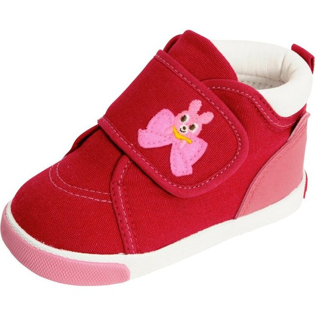 Smiley Bunny Second Shoes, Red
