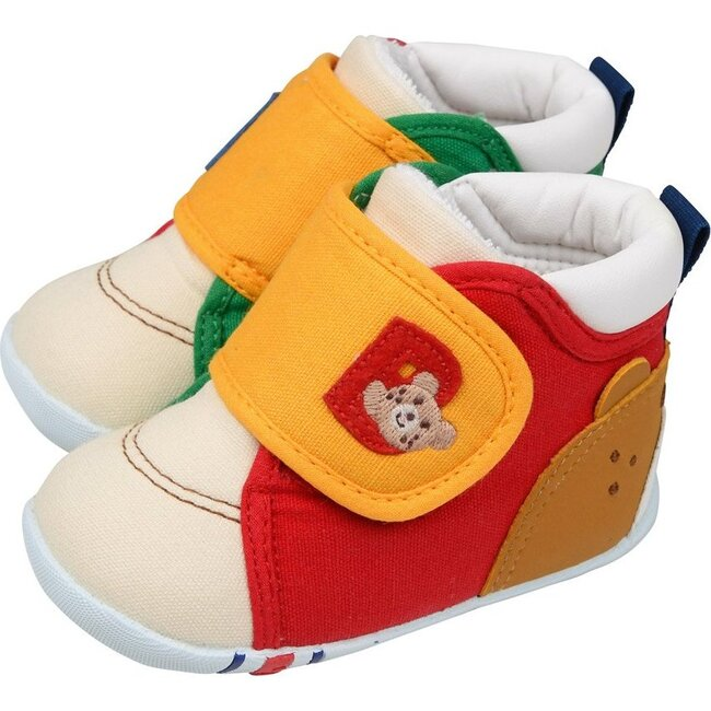 Smiley Bear First Walking Shoes, Multi