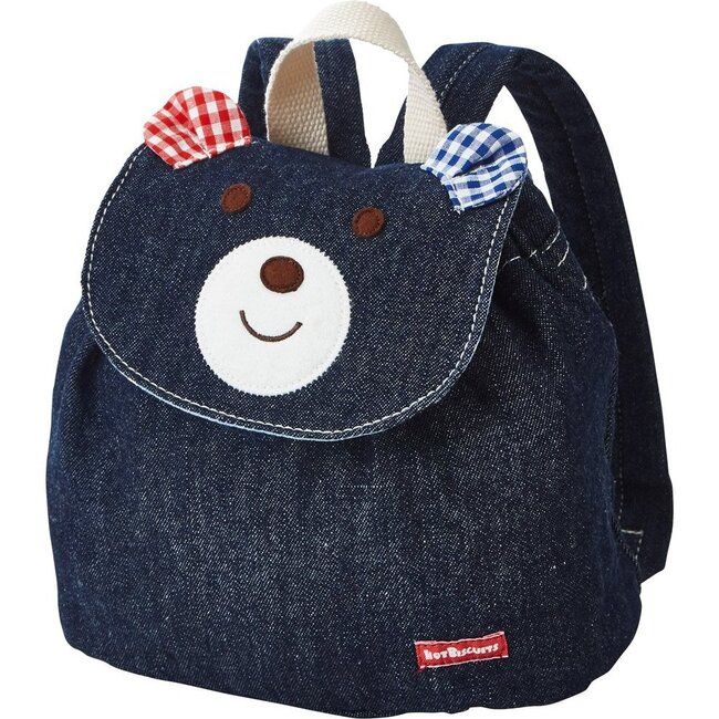 Smiley Bear Backpack, Navy