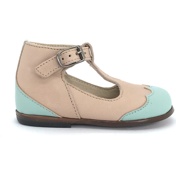 Dione T-Strap, Nude with Mint