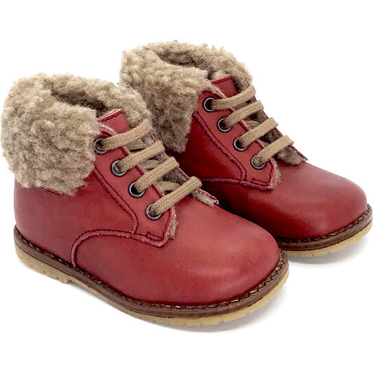 Aesop First Step Boots, Bordeaux