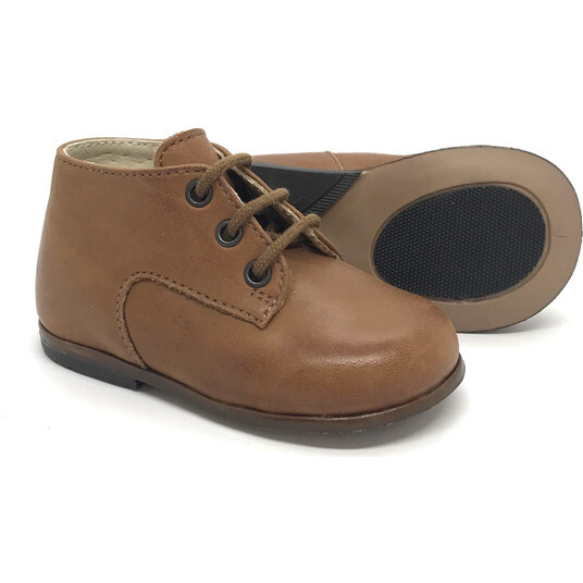 Plato First Step Low Boot, Cognac