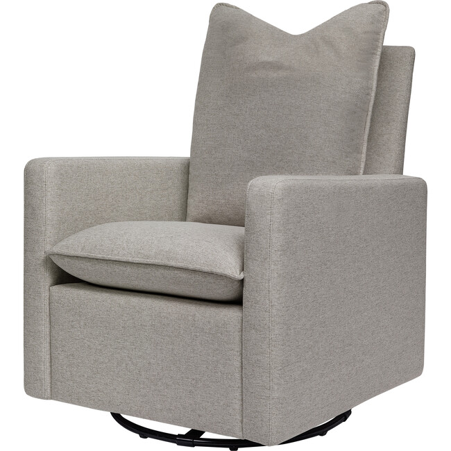 Cali Pillowback Swivel Glider, Grey Performance Eco-Weave - Nursery Chairs - 1