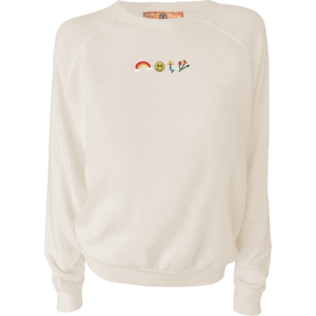 Women's Good Vibes Pullover, Natural