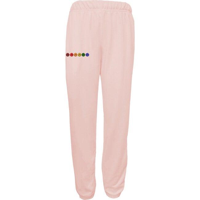 Women's Happy Sweatpants, Sunset Pink