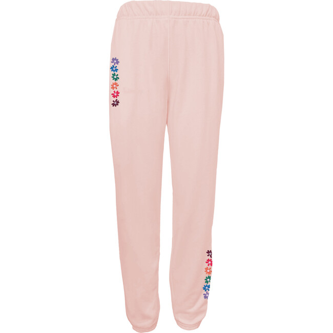 Women's Flower Power Sweatpants, Sunset Pink