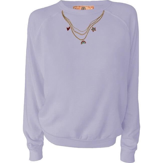 Women's Charming Pullover, Blue Lav